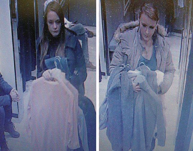Kobiety zarejestrowały kamery monitoringu w sklepie
