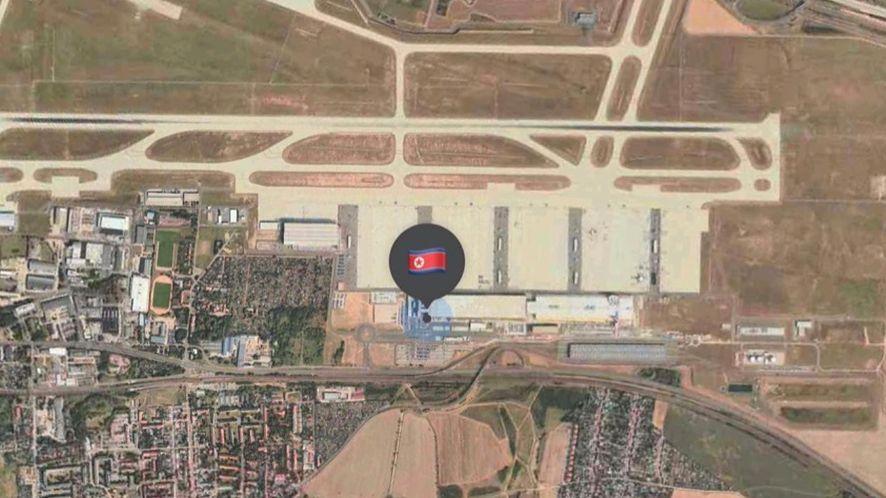 Położenie AirTaga wysłanego do Korei Północnej
