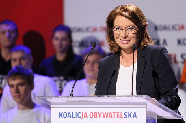 Wybory parlamentarne 2019. Małgorzata Kidawa-Błońska jest kandydatką na premiera KO