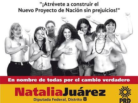 Kampania wyborcza topless