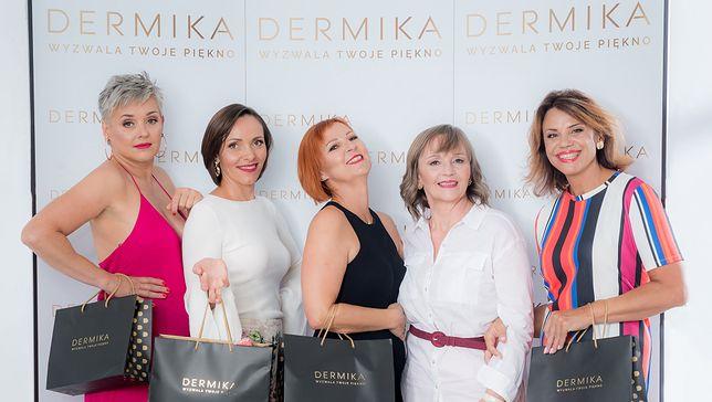 Szczęśliwe uczestniczki naszej akcji z prezentami od Dermiki