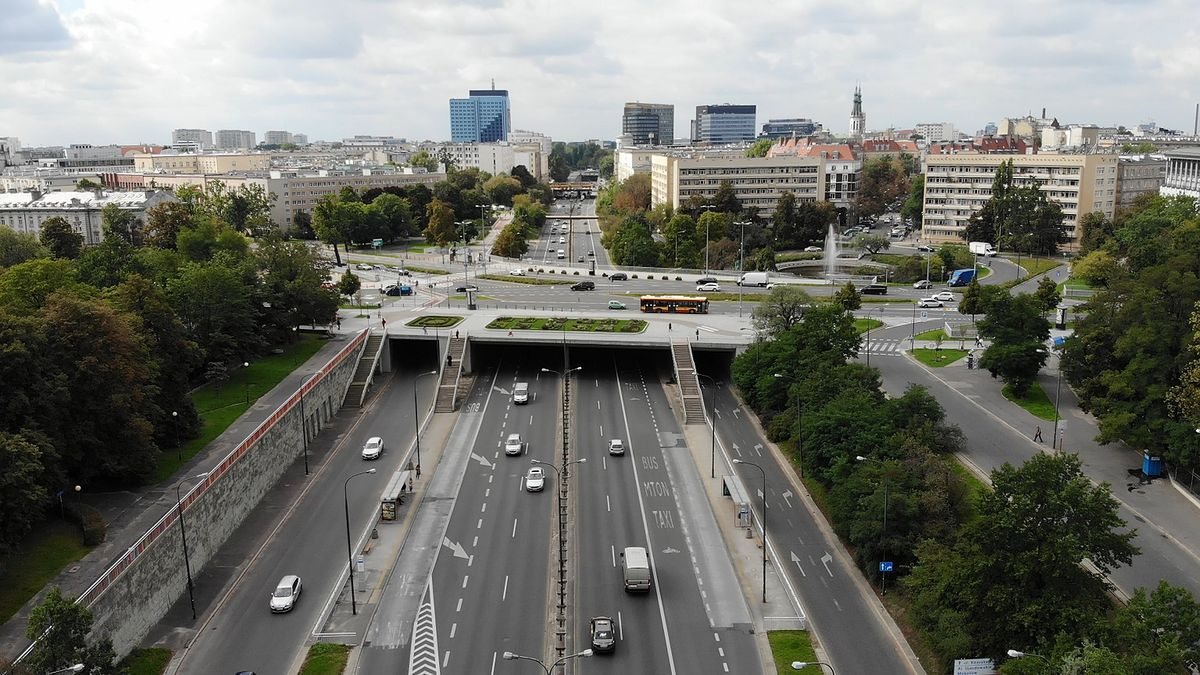 Warszawa. Remont wiaduktów na Trasie Łazienkowskiej