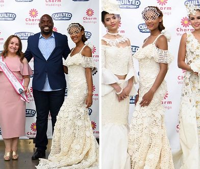 Laureatka konkursu na najpiękniejszą suknię z papieru toaletowego i jej projekty