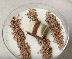 Przepis na jednoporcjowe fit-ciasto o smaku białego Kinder Bueno