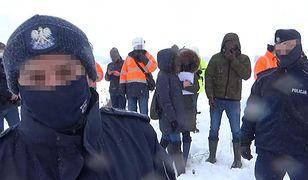 Awantura na budowie gazociągu Polska-Litwa. Rolnik zatrzymany przez policję