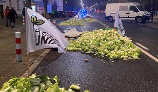 Protest rolników w Warszawie. W nocy byli w pobliżu domu Kaczyńskiego