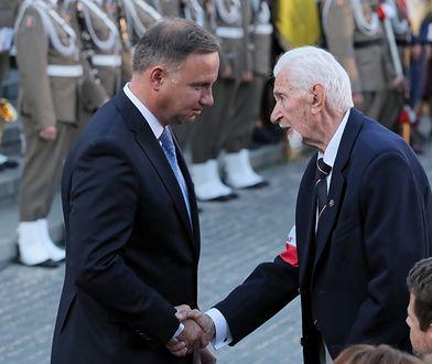 Prezydent RP Andrzej Duda oraz prezes Światowego Związku Żołnierzy Armii Krajowej Leszek Żukowski