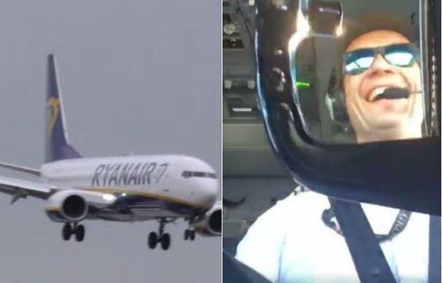 Nagranie polskiego pilota podbija internet. Fatalne warunki i... ten uśmiech na twarzy
