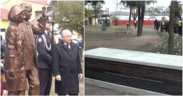 Lech i Maria Kaczyńscy uhonorowani pomnikiem. Fundatorom też się coś dostało