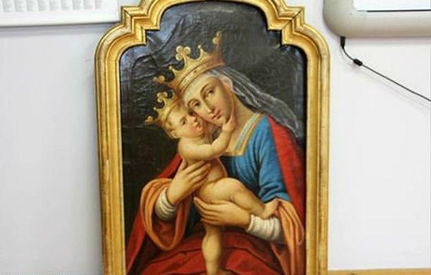 """Obraz """"Madonna z Dzieciątkiem Jezus"""" odnaleziony po 25 latach. Sukces polskiej policji"""