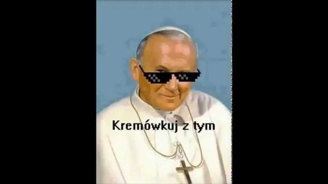 Wizerunek Jana Pawła II często jest wykorzystywany jako cel żartów.