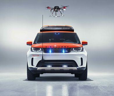 Ratownicza terenówka z dronem ukrytym w dachu