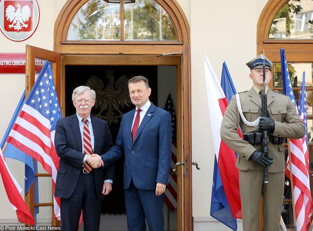 Spotkanie ministra obrony narodowej Mariusza Błaszczaka z doradcą ds. bezpieczeństwa narodowego USA - Johnem Boltonem
