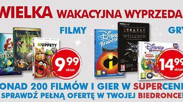 Oto lista gier i filmów dostępnych w ramach Filmaszu w sklepach sieci Biedronka