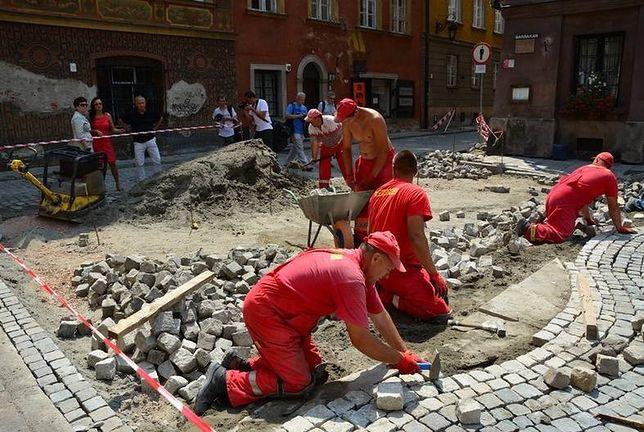 Drogowcy remontują ulice Starego Miasta