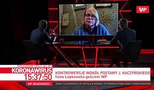 Ilona Łepkowska o prezesie PiS na zamkniętym cmentarzu. Mówi, dlaczego zareagowała