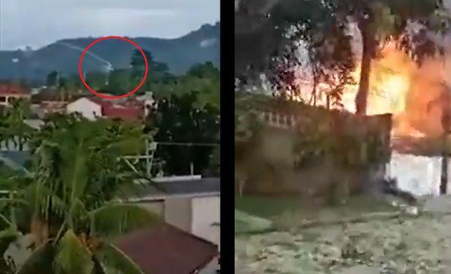 Filipiny. Katastrofa samolotu - 9 osób nie żyje. Świadkowie nagrali zdarzenie [WIDEO]