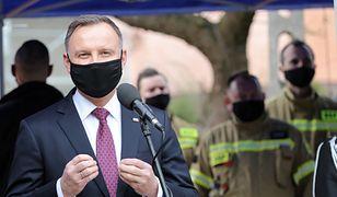 Maków Podhalański. Prezydent Andrzej Duda odwiedził lokalną jednostkę OSP