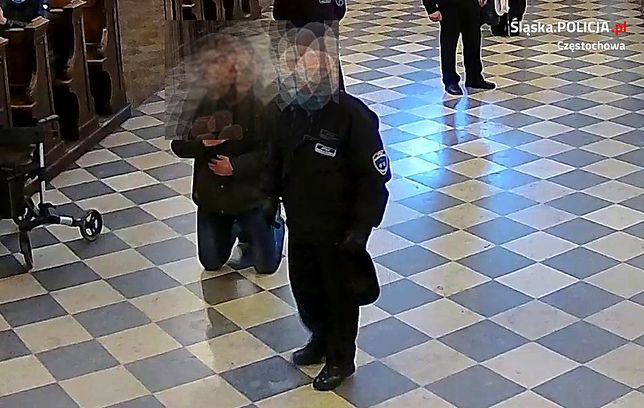 Śląskie. Mężczyzna, który na Jasnej Górze zaatakował strażnika klasztoru, zgłosił się na policję. To 51-letni mieszkaniec Gliwic.