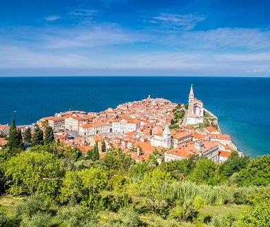 Miejscowość Piran w Słowenii leży na wybrzeżu Morza Adriatyckiego