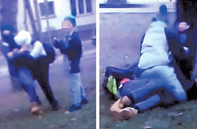 To kadr z filmiku nagranego przez uczestników zdarzenia - mówi o zdjęciu z bójki policja.