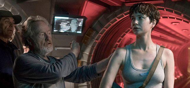"""Ridley Scott i Katherine Waterston na planie """"Obcego: Przymierze"""""""