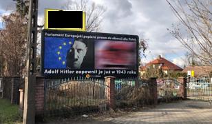 Hitler na tle flagi UE, obok martwy płód. Prokuratura: nie widać znamion czynu zabronionego
