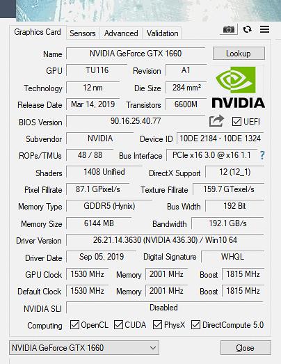 GTX 1660 Gaming OC