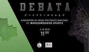 Sport w Warszawie. Debata kandydatów na prezydenta na stadionie Legii