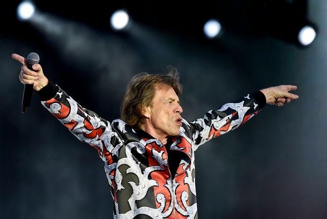 Mick Jagger podczas koncertu w Pradze
