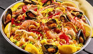 Paella z owocami morza
