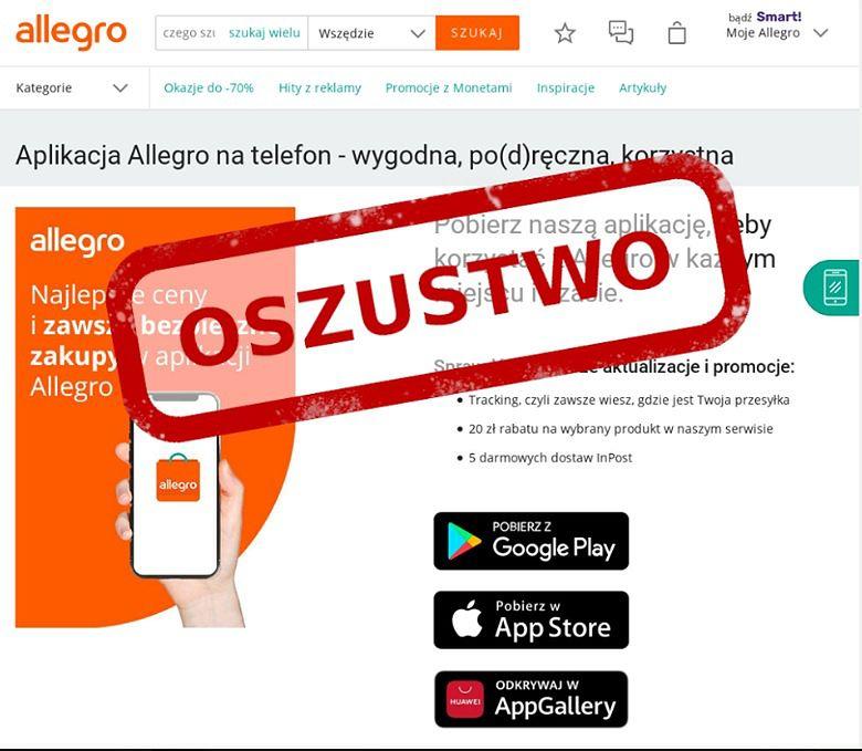 Oszustwa w sieci. To nie wiadomość od Allegro, ale próba kradzieży danych