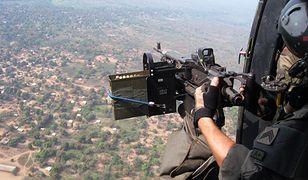 Francuski śmigłowiec nad Rep. Środkowoafrykańską