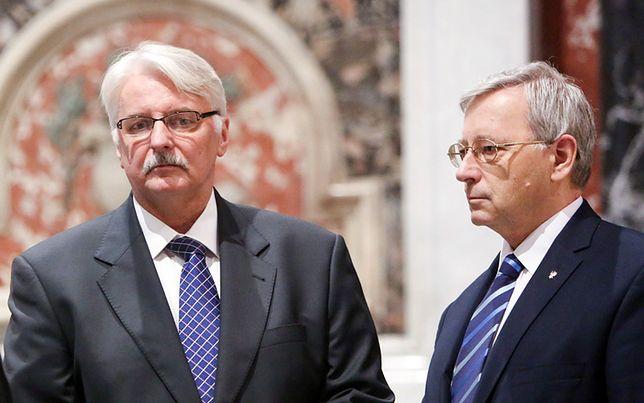 Minister spraw zagranicznych RP Witold Waszczykowski i szef jego gabinetu politycznego Jan Parys.