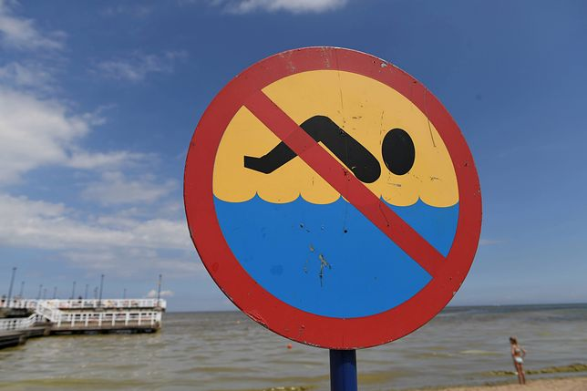 Zakaz kąpieli w Bałtyku