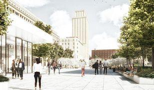 Plac Powstańców Warszawy po wybudowaniu podziemnego parkingu