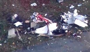 Katastrofa samolotu w USA. Maszyna rozbiła się na cmentarzu [Zobacz wideo]