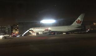 Madryt. Awaryjne lądowanie Boeinga 767 Air Canada. Nagranie trafiło do sieci