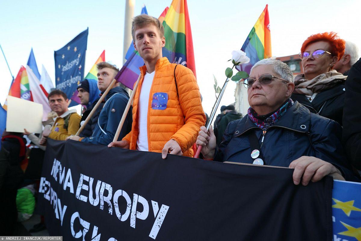 """Protest w Warszawie. """"Babcia Kasia zatrzymana"""""""