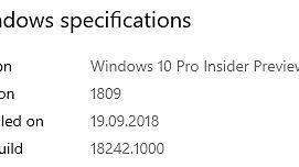 Wpis zbiorczy, a zmian wciąż niewiele – Windows 10 w testowych kompilacjach 18242, 18247, 18252