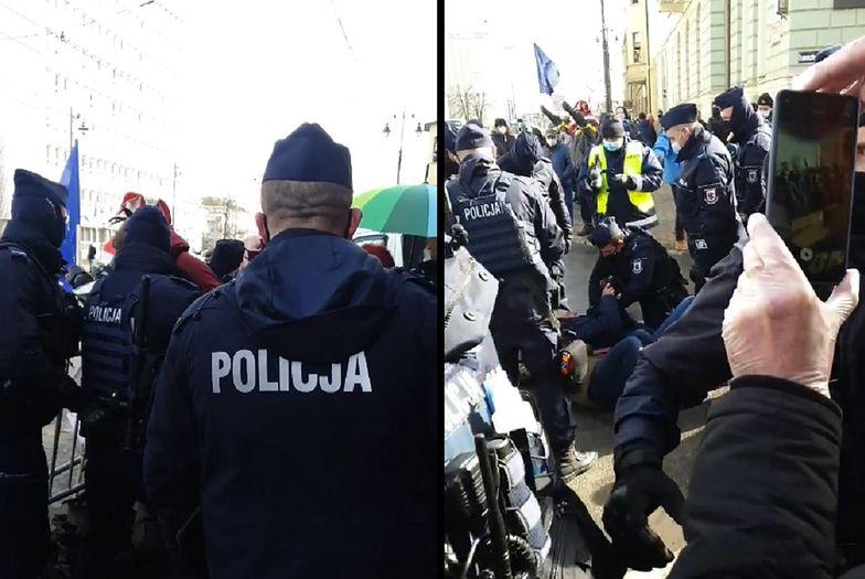 Andrzej Duda w Bydgoszczy. Nagrano brutalne starcia z policją