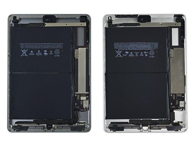 Po prawej iPad Air, po lewej nowy iPad. fot. iFixit.org