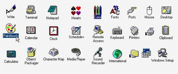 Klasyczne ikony Windows 3.x