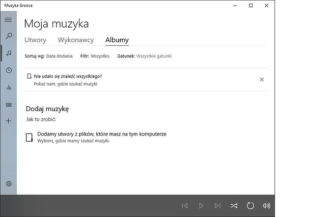 Muzyka Groove – po co komu Windows Media Player?