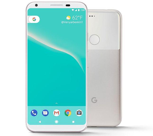 Google Pixel 2 koncept, autor: Benjamin Geskin