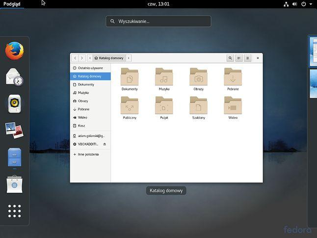 Czyste GNOME 3 nie potrzebuje jakichśikonek Kosza