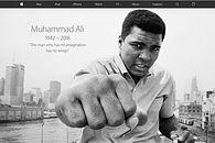 Think Different - od dnia 5 czerwca 2016 roku, Muhammad Ali pojawił się na stronie głównej Apple.