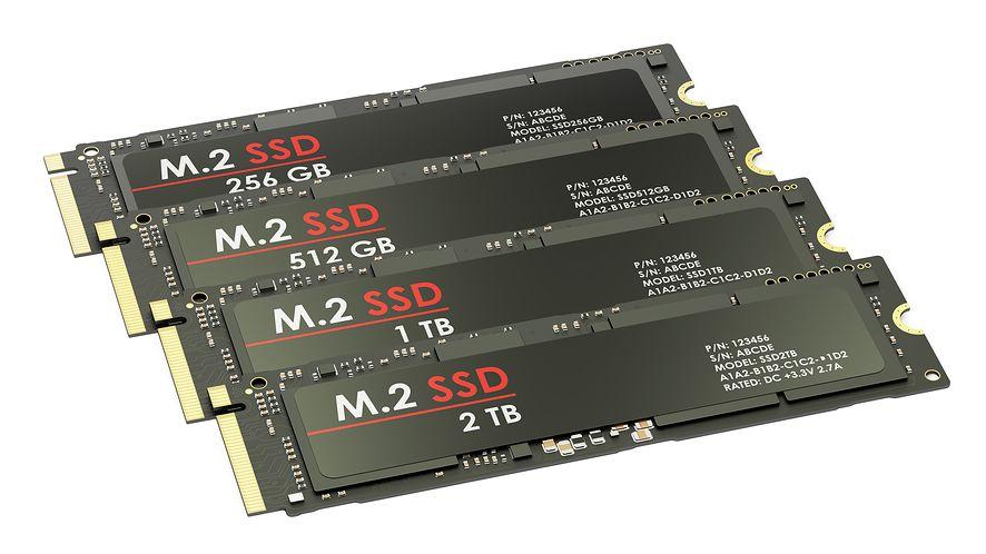 Grupa dysków M.2 SSD z depositphotos