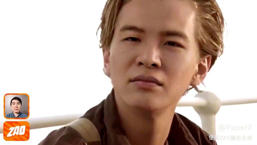 Chiński deweloper zamiast DiCaprio na filmowym Titanicu, fot. Twitter (Allan Xia)