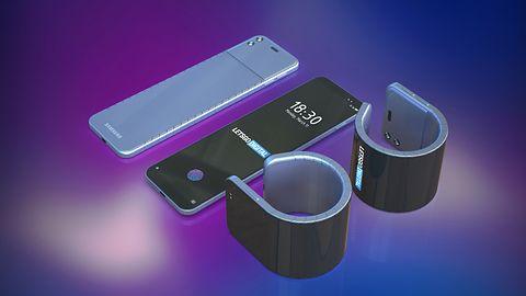 Nadchodzi zwijany smartfon-bransoletka. Samsung patentuje konstrukcję